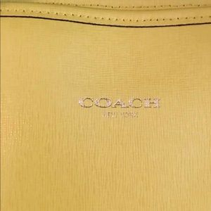 Yellow Medium Size Coach Shoppers Tote